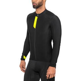 Northwave Fahrenheit Fietsshirt lange mouwen Heren, black/yellowfluo
